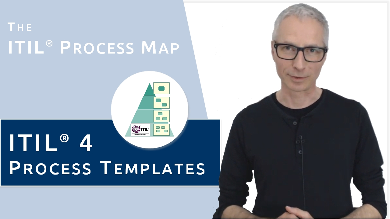 ITIL 4 Process Templates (Video). Still valid after the launch of ITIL 4: The ITIL4 Process Map.